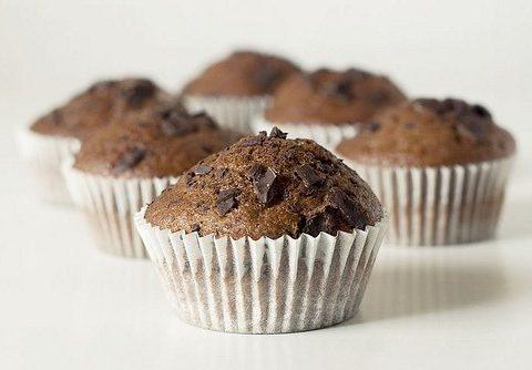 muffins al cioccolato al latte