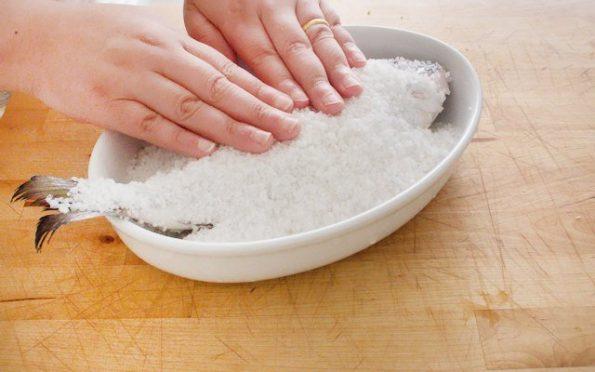 orata aromatica al sale