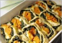 Rotolini spinaci zucca e ricotta