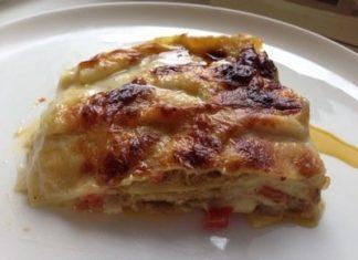 Lasagne branzino pesto e pomodorini