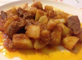 spezzatino manzo patate e paprika