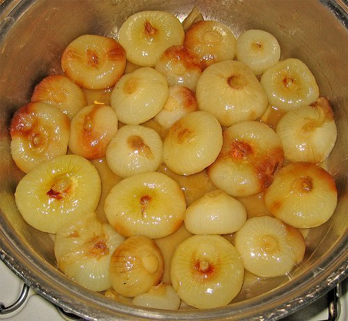 cipolline in agrodolce all' arancia