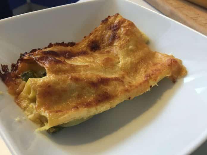 Cannelloni asparagi e salsa Mornay