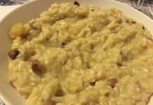 Risotto pancetta e patate