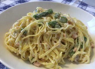 Tagliolini salmone fresco e asparagi