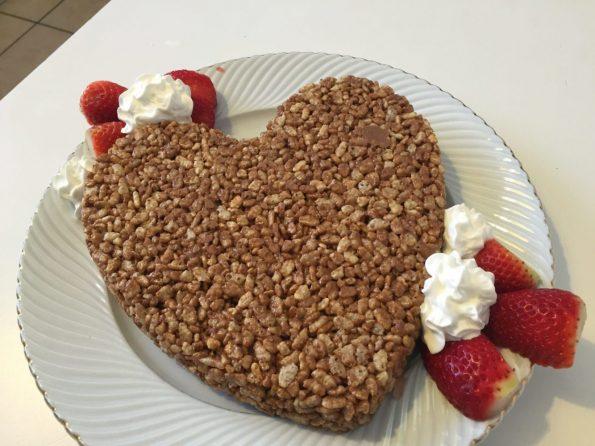 Torta Mars e riso soffiato