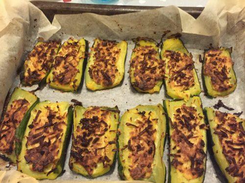 Zucchine gratinate con ricotta affumicata