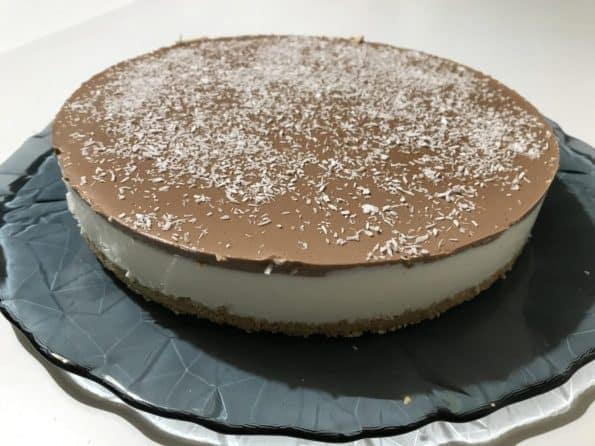 Cheesecake al cocco e cioccolato