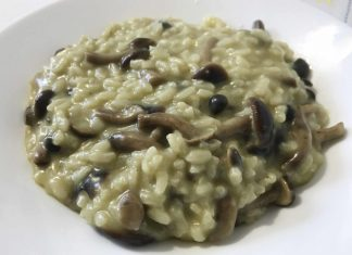 Risotto pioppini e asiago